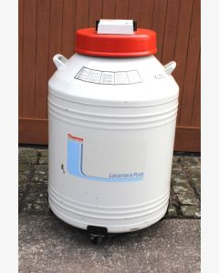 Thermo Locator 6 Plus Cryogenic Storage Dewar with Thermolyne Liquid Nitrogen Level Monitor
