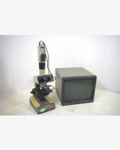 Olympus BHC Inspection Microscope, JVC Colour Video Camera TK-C1831, JVC CRT Monitor
